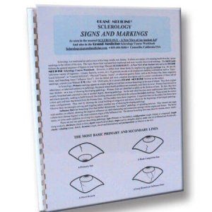 Sclerology Signs and Markings